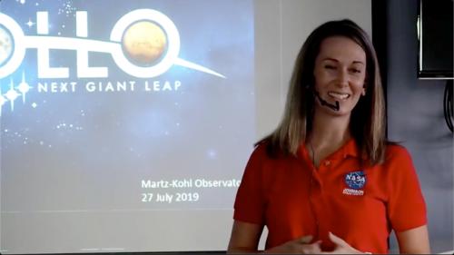 Laurie Abadie from NASA speaks - July 2019