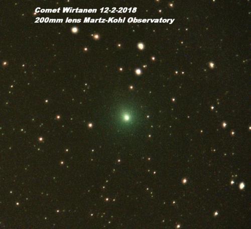 Comet Wirtanen 200mm 12-2-2018