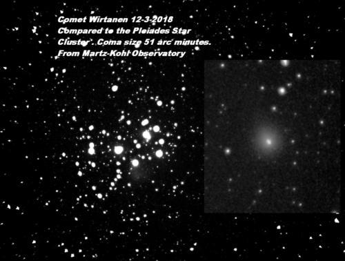 Comet Wirtanen Observatory 12-3-2018