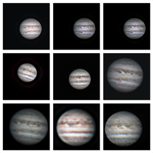 Jupiter collage - Oct 2020 - by Tom Traub