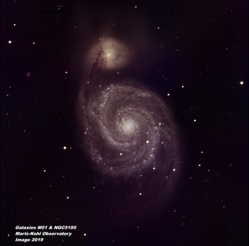 M51 + NGC5195 Color -  2019