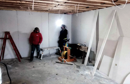 welcome center drywall 20181227